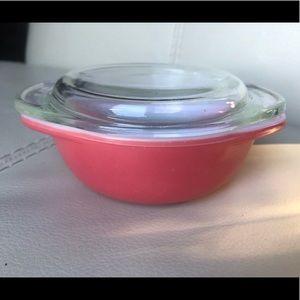 Pink Flamingo Vintage Pyrex Casserole Dish + Lid